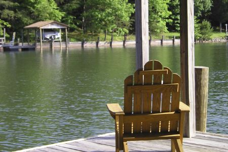 covered dock by the lake