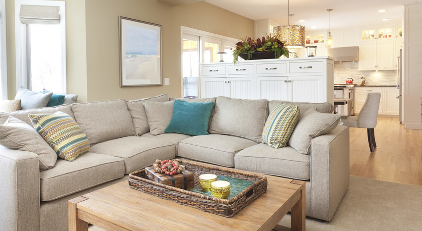 Staged Living Room In A Sarasota Home