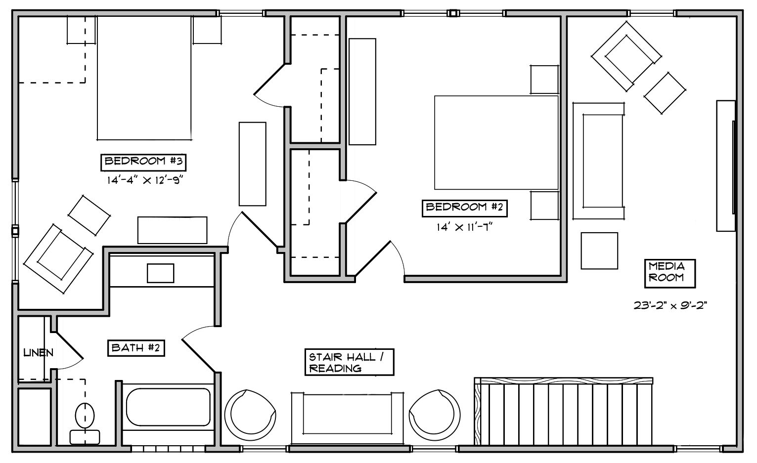 The Bluebell Second Floor Floorplan for Elevation B