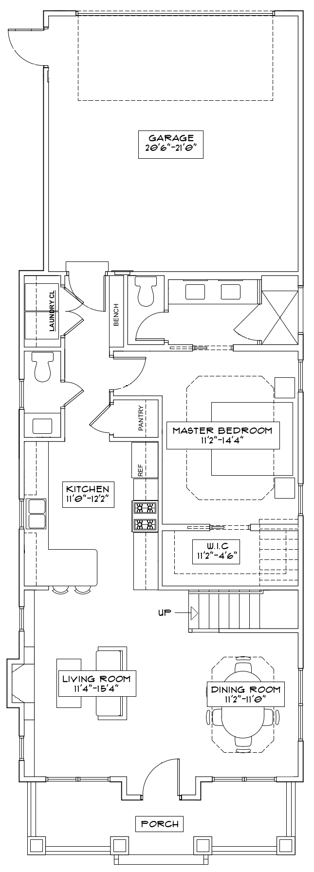 The Freesia First Floor Floorplan