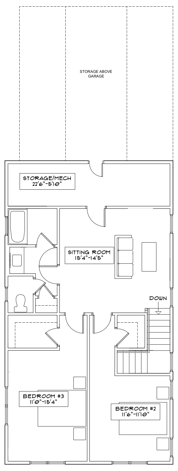 The Freesia Second Floor Floorplan